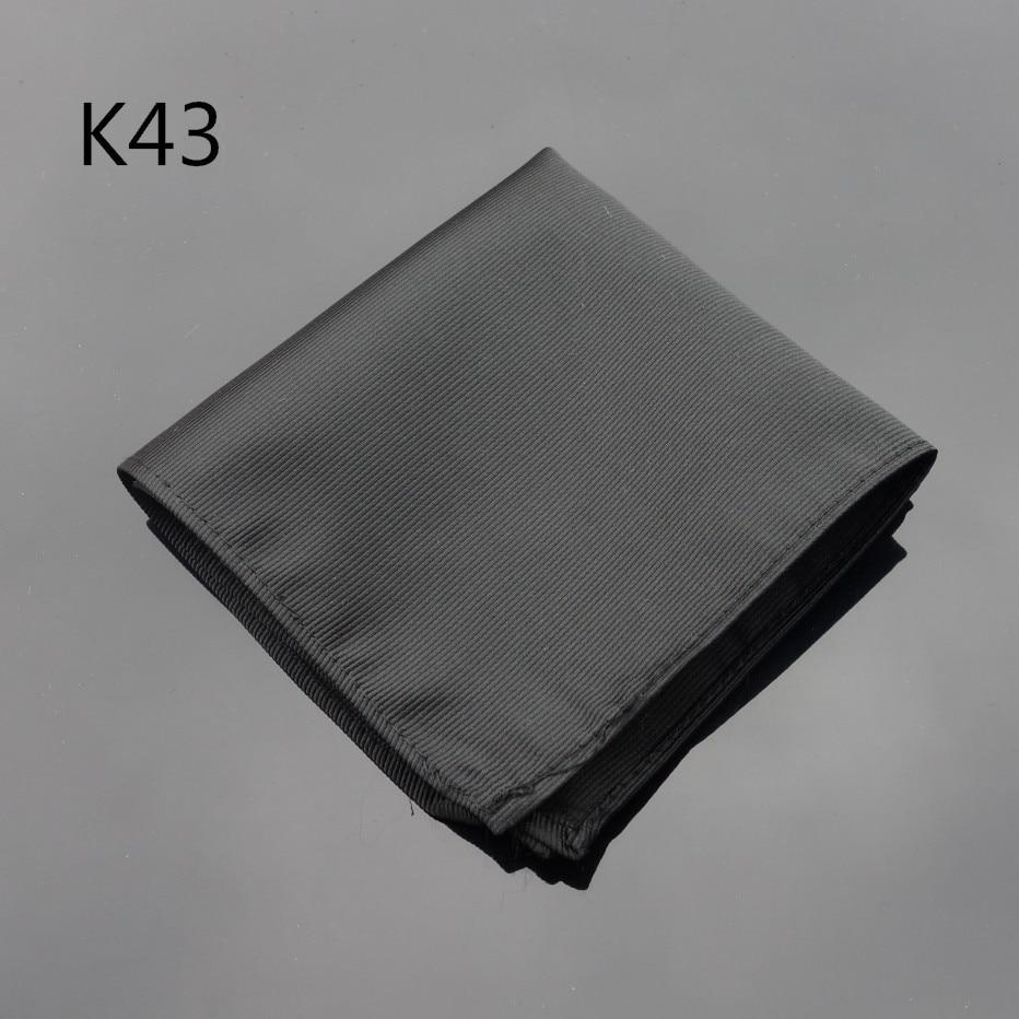 Ikepeibao Hankerchief Black Wide Striped Hanky Men Tie Jacquard Woven Pocket Square