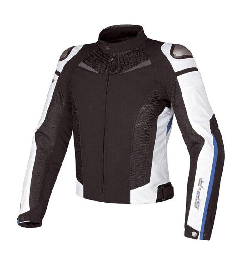 Veste d'hiver de moto coupe-vent en maille titane avec protecteur