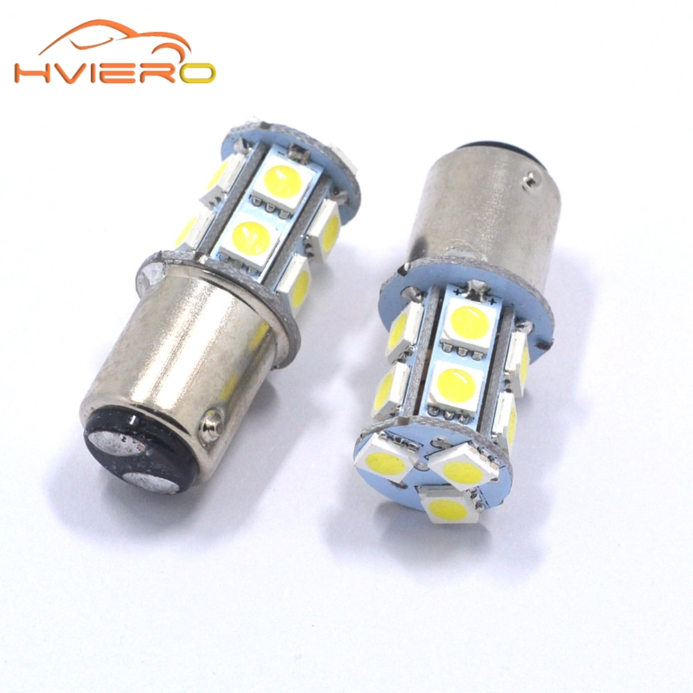 10Pcs 1157 BAY15D P21/5W 13Led 5050 Car Led Turning Parking Signal Lights Brake Tail Lamps 13SMD Auto Rear Reverse Bulbs DC 12V