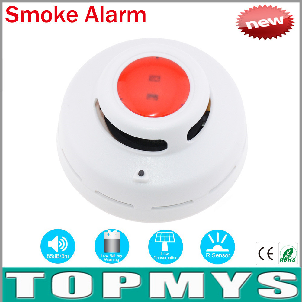 Wireless Smoke Alarm detector TM-VKL001 With Infrared Photoelectronic Sensor GSM Home Security System Smoke Fire Detector Sensor