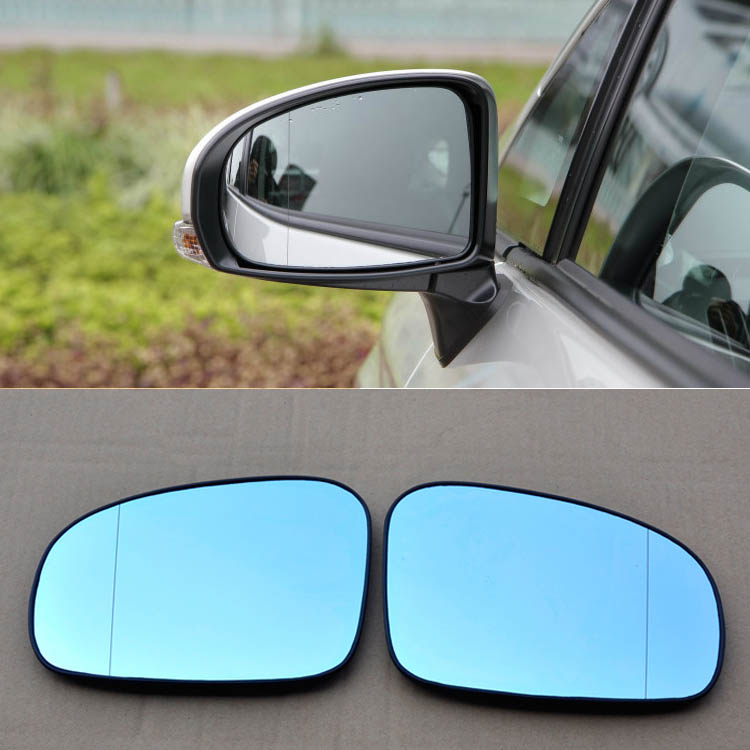 Ipoboo 2pcs New Power Heated w/Turn Signal Side View Mirror Blue Glasses For Toyota Prius