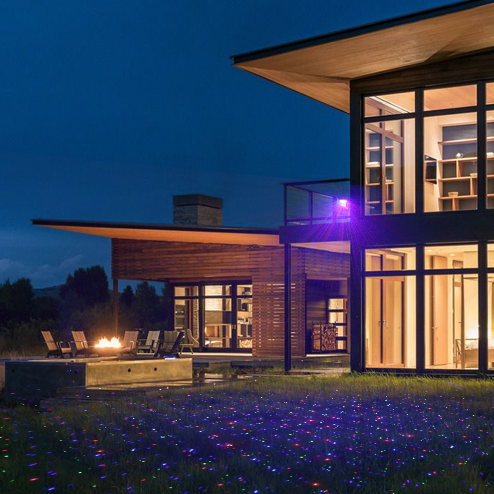 Extranjero estrella RGB impermeable al aire libre Navidad luz láser proyector puntos efecto jardín hogar Xmas árbol paisaje mostrar Iluminación - 6