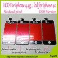 Mejor calidad sin píxeles muertos sin mancha de grado aaa para el iphone 4 4g/para el iphone 4s lcd de pantalla táctil digitalizador asamblea pantalla lcd