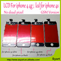 Melhor qualidade sem pixel morto nenhum ponto grade aaa para iphone 4 4g/para o iphone 4s lcd touch screen digitador assembléia display lcd