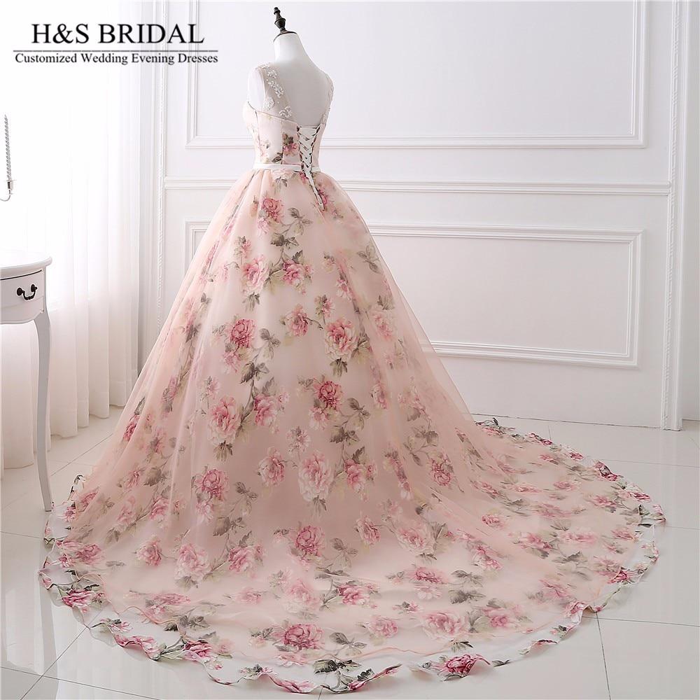 H & s vestido longo de baile