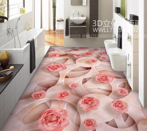 photo wallpaper Customized 3d flooring pvc marble plant floral 3d ...