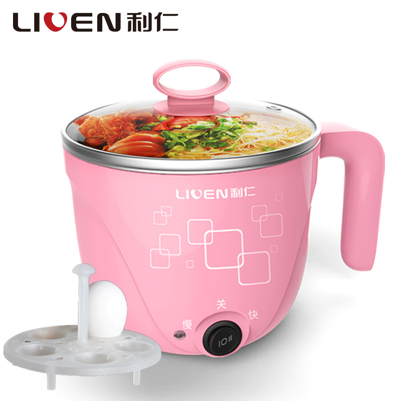 Convenient Handy Cup Electric Multi Cooker Mini Dormitory Cooking Machine Portable Hot Pot Stainless Steel Heating Tool stainless steel electric double ceramic stove hot plate heater multi cooking cooker appliances for kitchen 220 240v vde plug