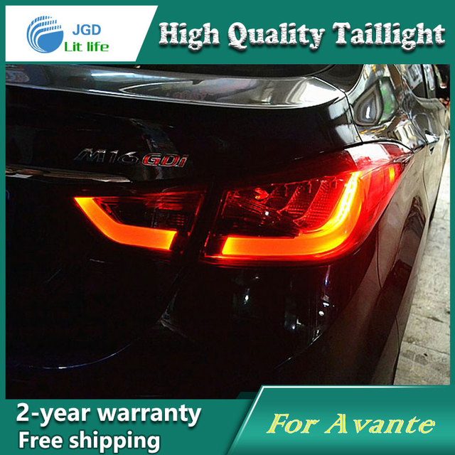 car led tail light parking brake rear bumper reflector lamp for hyundai  elantra red fog stop