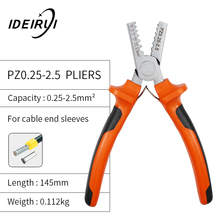 PZ0.25-2.5 1.5-6 Terminal Crimping Pliers Wire Stripper Crimper Ferrule Crimping Hand Tool Pliers+ 1200 Terminals Kit