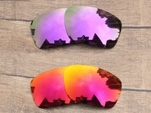 Plasma púrpura y rojo fuego 2 pares espejo polarizado Objetivos para  bisturí Gafas de sol Marcos protección 100% UVA y UVB ab4e02cfe0