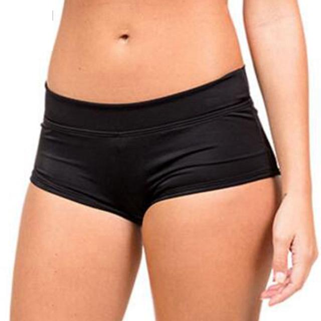 d32f1f863f Swimwear Bikini Bottom 3 Solid Colors Sunbathe Sexy Women Boyleg High Waist Swimsuit  Pants Swim Short Boxer Only XXXL Plus Size