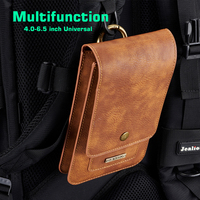 EOINII For Iphone 7 Plus DG MING Universal Phone Bag Genuine Leather Carry Belt Clip Pouch