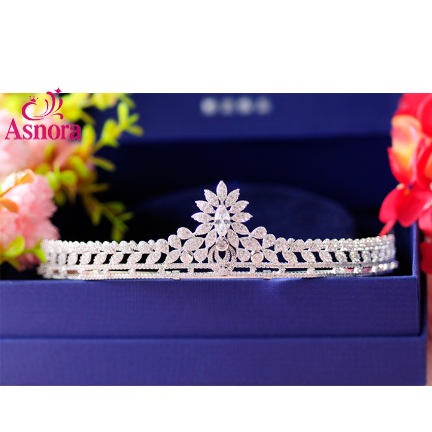 Luxury Zircon Bridal Tiaras Diadem Vintage Hair Jewelry Crown Ornaments Jewelry Charming Zircon Rhinestone Hairwear for Women charming red rhinestone alloy ring for women