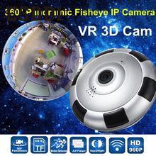Esddi Новый Wi-Fi HD 960 P 1280*960 360 градусов панорамный ip Камера VR 3D видео CAM ИК Поддержка Ночное видение Профессиональный Домашний Предметы безопасности