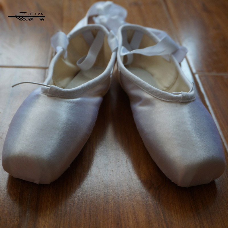NWT Women Professional Dance Ballet Pointe Shoes Toe Satin Ribbon Ties 6 Colors /Dance Shoes