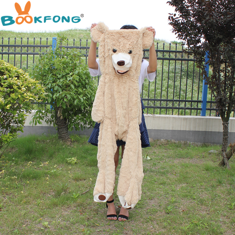 260cm Giant Bear Hull Plush American Bear Teddy Bear Skin Factory Price Soft Toy Best Gifts For Children factory price 160cm teddy bear coat empty toy skin plush giant bear toy
