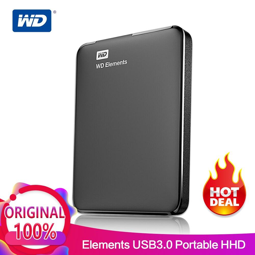Western Digital WD Elements Портативный внешний жесткий диск 2,5 USB 3,0 жесткий диск 500 ГБ 1 ТБ 2 ТБ 4 ТБ оригинальный Для портативных ПК