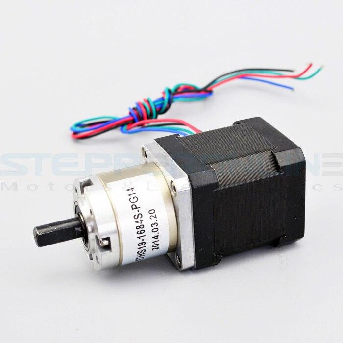 все цены на Nema 17 Gear stepper motor Gear ratio 14:1 1.68A planetary reduction gearbox 42.3*42.3*83mm for 3d printer DIY design