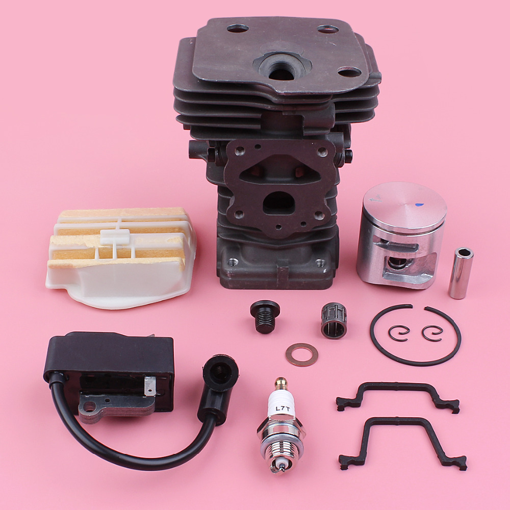 44mm Cylinder Piston Kit For Husqvarna 445 450 450E Ignition Coil Air Filter Gasket Needle Bearing Chainsaw Spare Replace Part44mm Cylinder Piston Kit For Husqvarna 445 450 450E Ignition Coil Air Filter Gasket Needle Bearing Chainsaw Spare Replace Part
