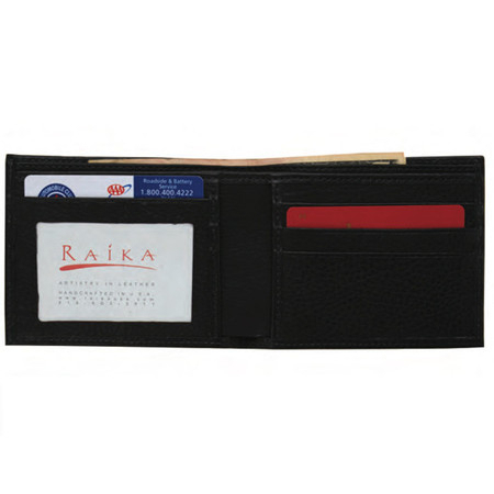 Raika RM 502 RED Mens Bifold Wallet - Red