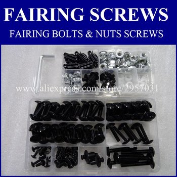 Fairing bolts & nuts fairing screws fit for SUZUKI TL1000R 1998-2002 GSX750F GSX600F 1997-2005 GSX650F 2008-2010 Fairing bolts image