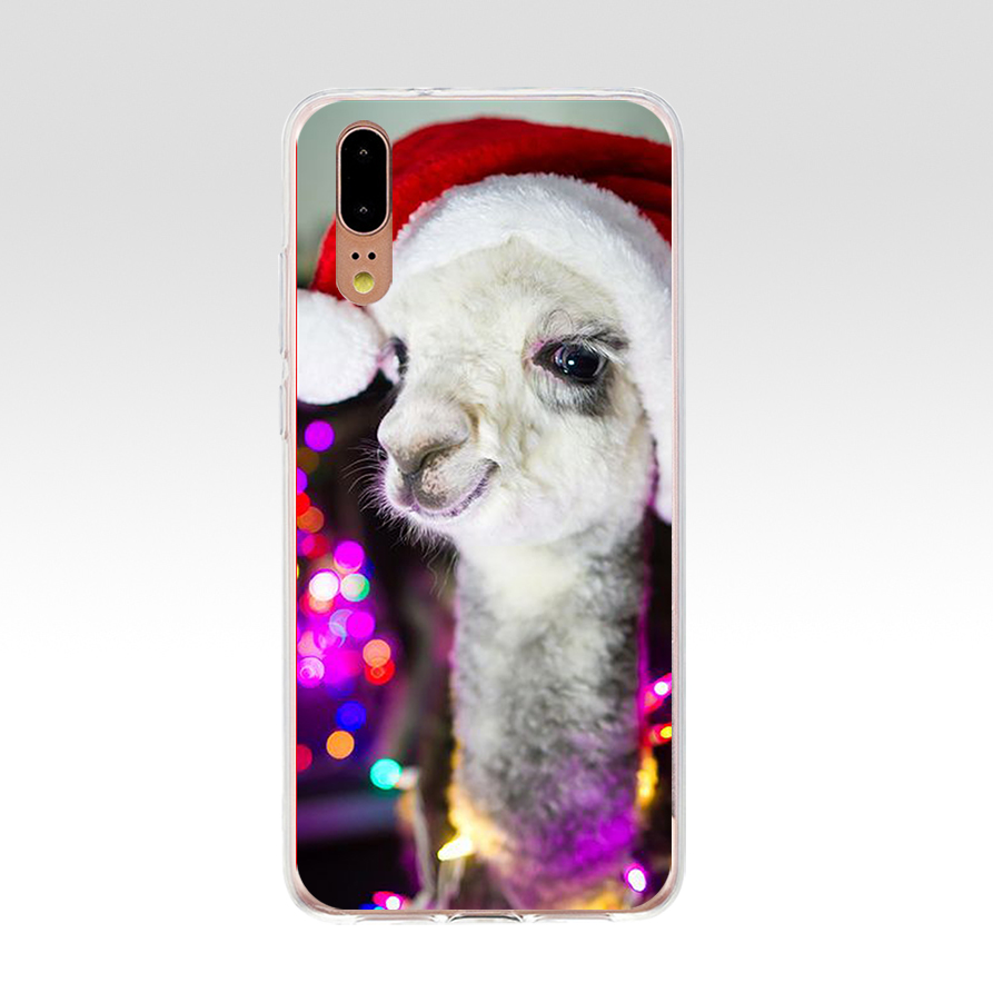 5G Alpacas Alpaca Christmas For Huawei P20 Case Cover Soft Silicone TPU Cover Back Protective For Huawei P20 Case