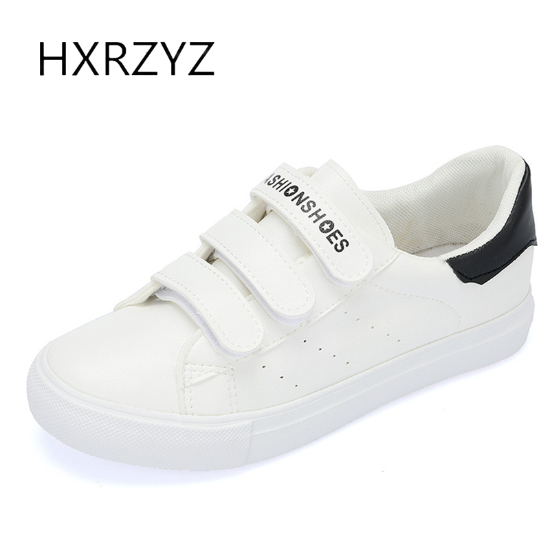 HXRZYZ women leather flat shoes canvas sneakers spring and autumn new fashion ladies casual shoes women comfortable espadrilles 2017 spring and autumn new leather lace women s shoes fashion pop shoes casual hot models round the elderly ladies shoes