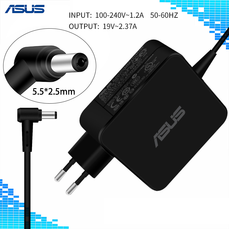 For Asus Laptop Adapter 19V 2.37A 45W 5.5*2.5mm AC Adapter Power Charger For ASUS A52F X450 X450L X550V X501LA X550C X551CA X555