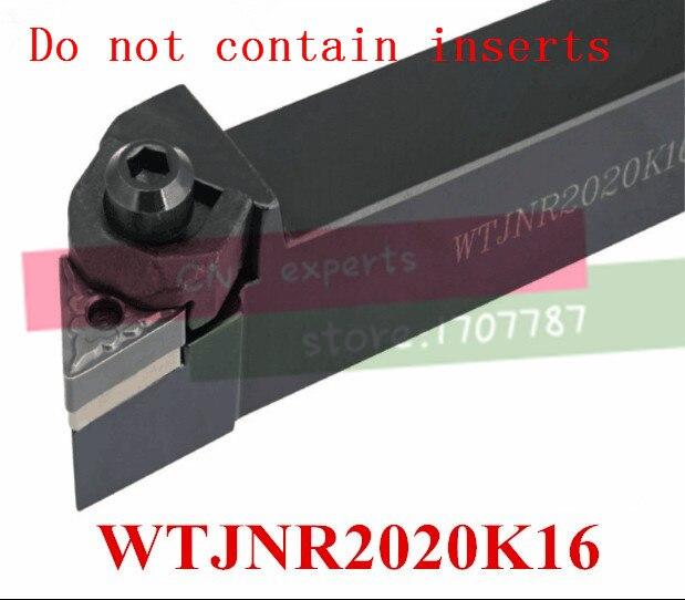 WTJNR2020K16 Indexable External Turning Tool Holder,Lathe CNC Turning Cutter,Lathe Tool Holder For TNMG160404/08