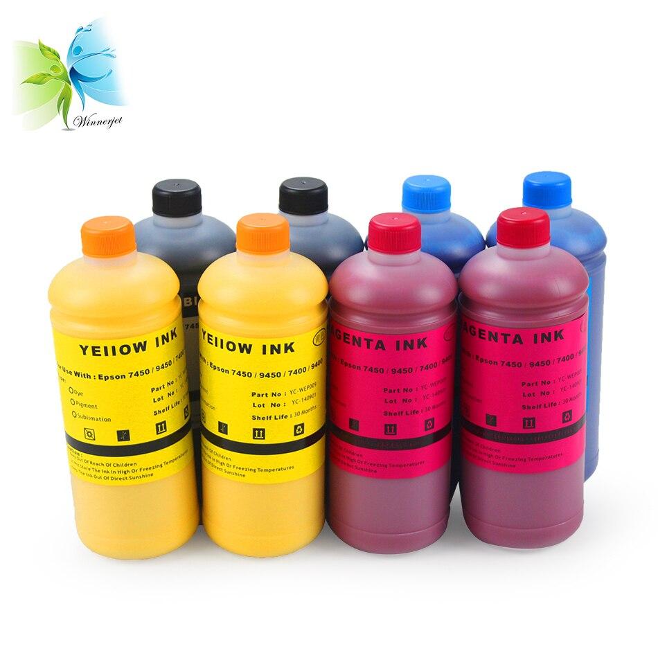 Winnerjet No clogging vivid Pigment ink for Epson 7450 9450 7400 9400 printer- Double 4 color