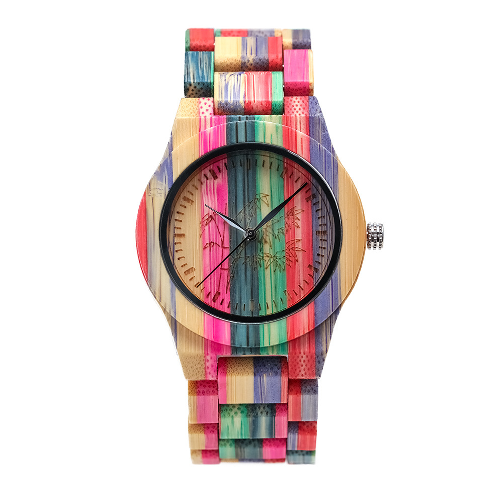 Sports Girls Watch Wooden Bussiness Quartz Fashion Women Colorful Reloj-De-Madera Hot-Sell