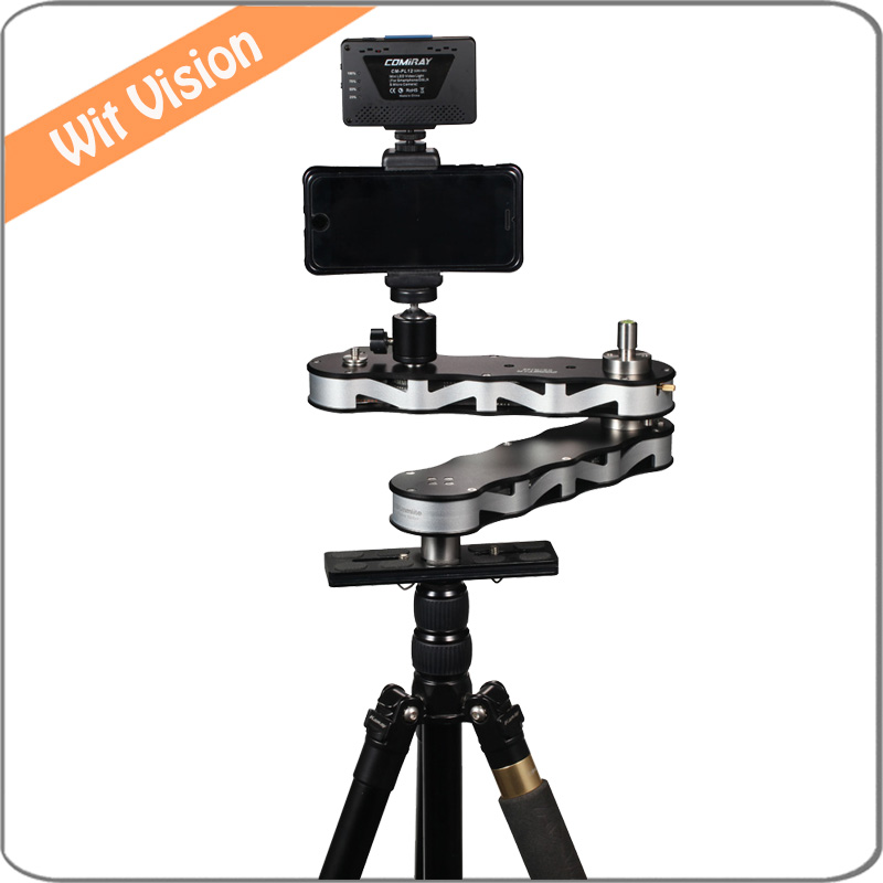 4 times Distance Retractable MINI Aluminum Alloy Video Slider for DSLR Camera Micro Camera font b