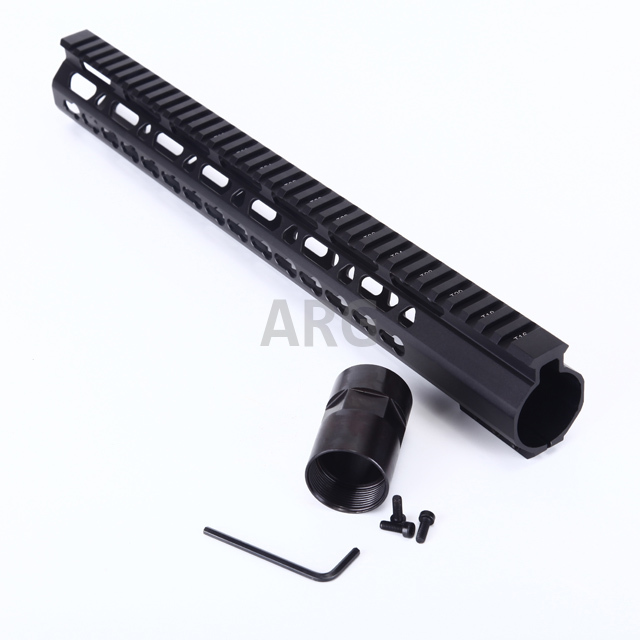 15 39 39 M4 Tactical AR15 Parts 15 quot Free Float Handguard Keymod With Barrel Nut Hunting Accessories in Scope Mounts amp Accessories from Sports amp Entertainment