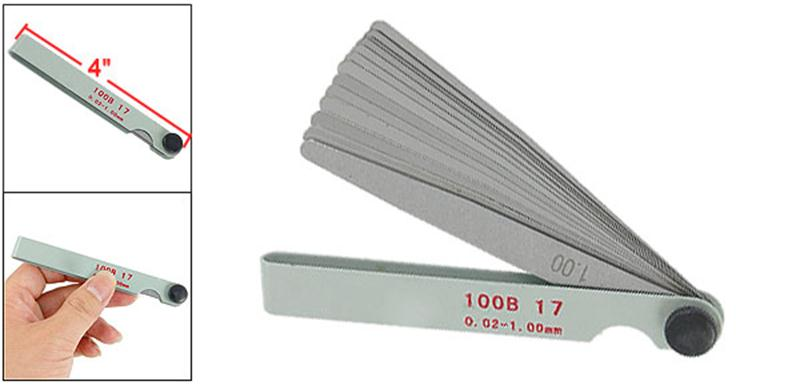 UXCELL 17 In 1 Metric Thickness Value Feeler Gauge 0 02 1Mm Measuring Tool For Feeler Gauge Valve Shim Use Metric Gap Gauges in Feeler Gauges from Tools