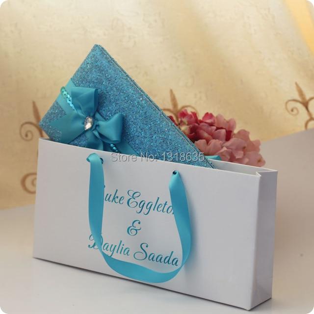 Aliexpress Buy 2014 New Blue Leather Chinese Wedding – Handbag Party Invitations