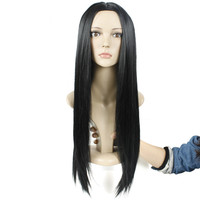 Gres Silky Straight Middle Parting Machine Made Lady Synthetic Hair Pieces for Girls High Temperature Fiber Women Long Wigs