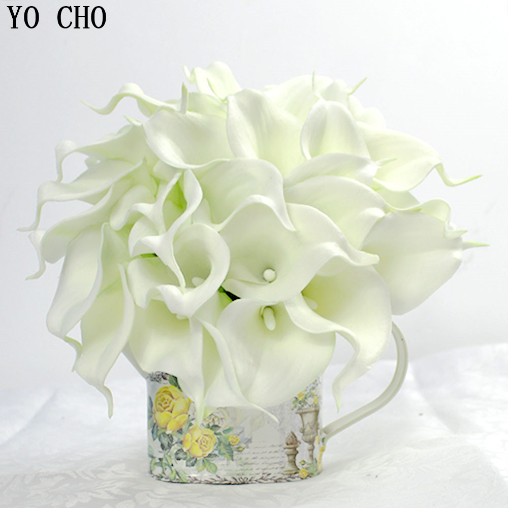 Wedding Flowers Bridal Bouquets Pu Bride Holding Flower Ivory White