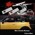 1pc I Love Mini 3D Door Decal Sticker For Mini Cooper Accessories Union Jack Countryman Clubman F55 F56 R55 R56 R57 R58 R59 R60