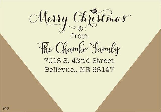 Auguri Di Natale Per La Famiglia.Personalizzato Natale Timbro Biglietto Di Auguri Di Natale Timbro