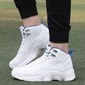 Aire Superior De alta Deporte Basket Zapatos Ocasionales de Los Hombres Entrenadores Lace Up Transpirable PU Zapatos Para Caminar Al Aire Libre Estrella Roja de Gran Tamaño 39-47