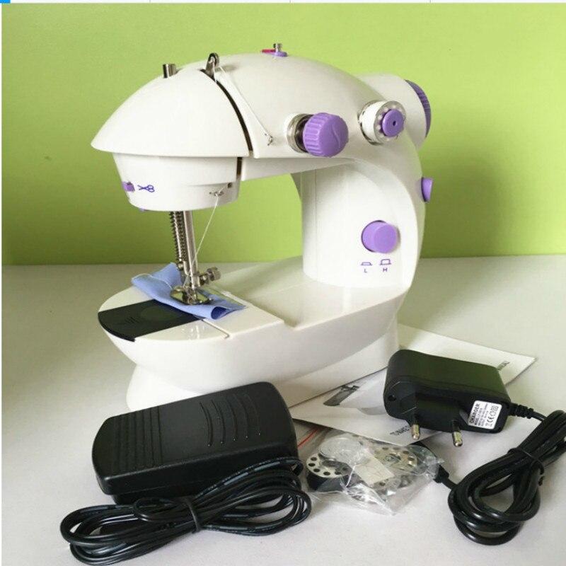 Máquina de coser pequeña máquina de coser doméstica más función máquina de coser impulsada por Motor Niños araña Caballero truco Vehículo de patinaje motorizado Universal giratorio rollo música iluminación niños dibujos animados Juguetes