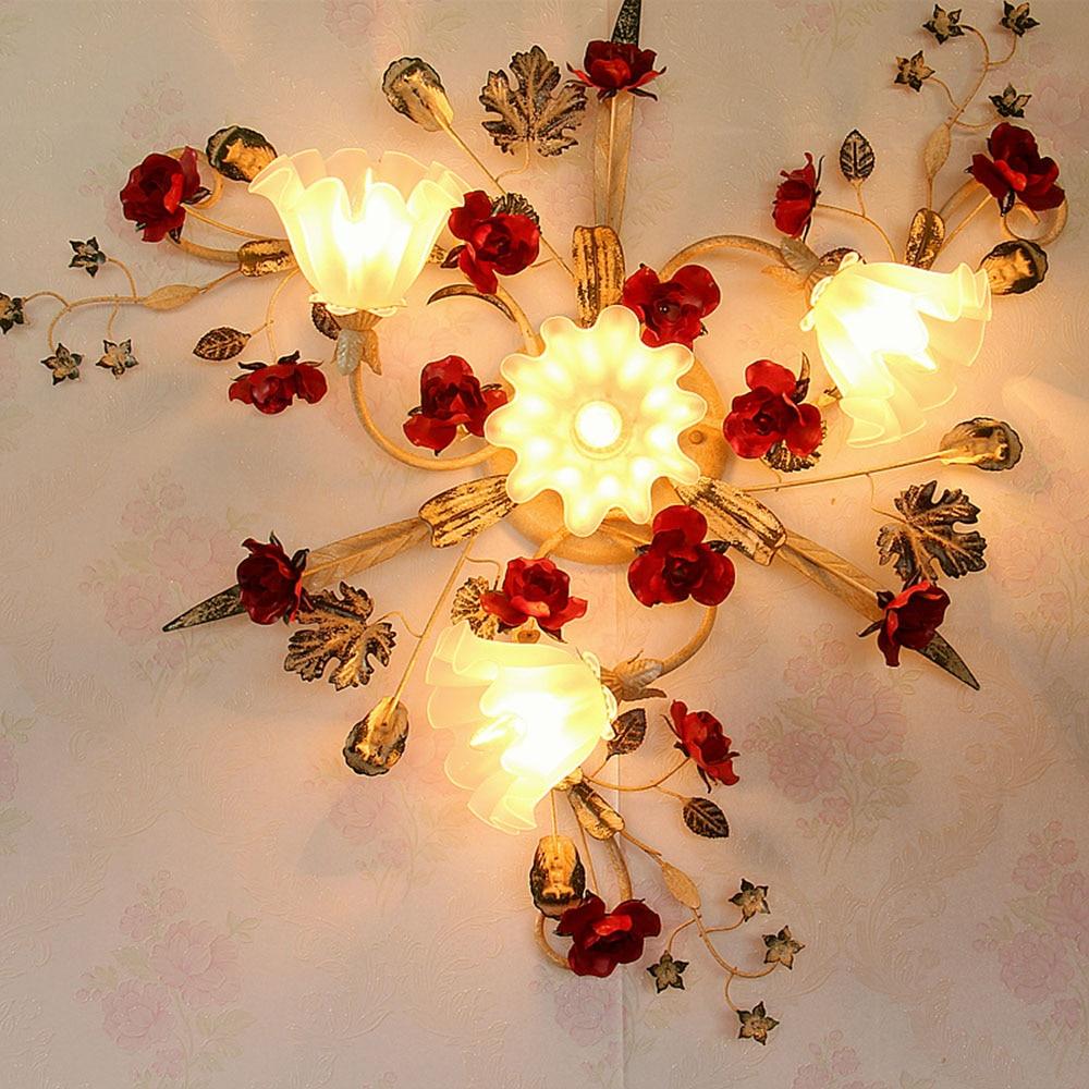 Modern Ceiling Light Led Glass Lustre Luminaire Ceiling ...