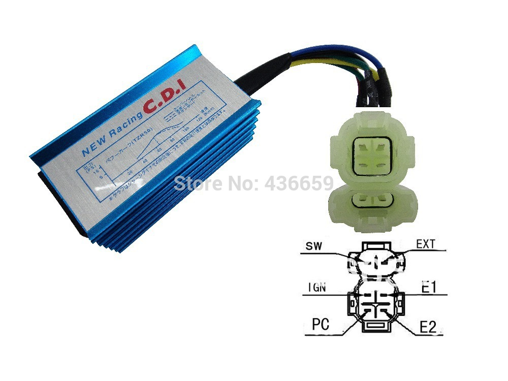 racing pro cdi gy6 high performance ac fired cdi for scooter 50cc rh aliexpress com GY6 150Cc Electrical Wiring Diagram Chinese GY6 Wiring-Diagram