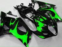 Injection Hey GSX R1000 K3 03 04 Green Flame Black GSX R1000 K3 GSXR 1000 2003 2004 GSXR1000 Fairing for Suzuki