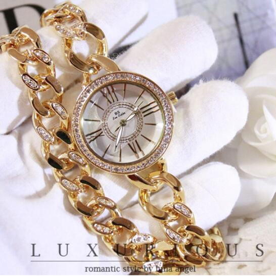 f2680930e355f 2017 New Style Women Wristwatches Lady Dress Watch Stainless Steel Band Female  Wristwatch Female Bracelet Watches Clocks Hours-in Women s Watches from ...
