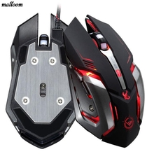 2017 brand new and high quality Mouse Professional 3500 DPI 6 Button Optical Custom Macros USB Wired Gaming Steel Mouse Mice