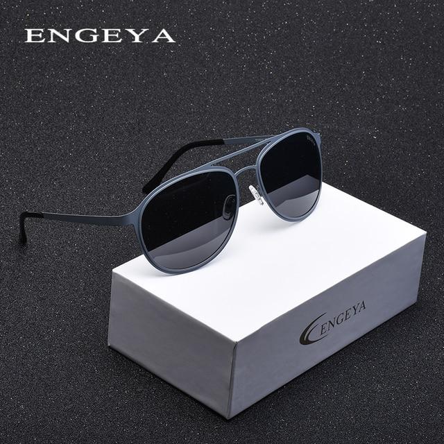 cc726b4ac0a9e Liga Óculos Polarizados Homens Marca Designer de Moda Ao Ar Livre Super  Leve Óculos de Sol