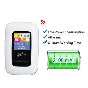 Image 3 - Разблокированный 2100 mAh 3g/4G wifi роутер 100 Мбит/с мобильный wifi точка доступа карманный беспроводной маршрутизатор для путешествий на открытом воздухе с слотом для sim карты