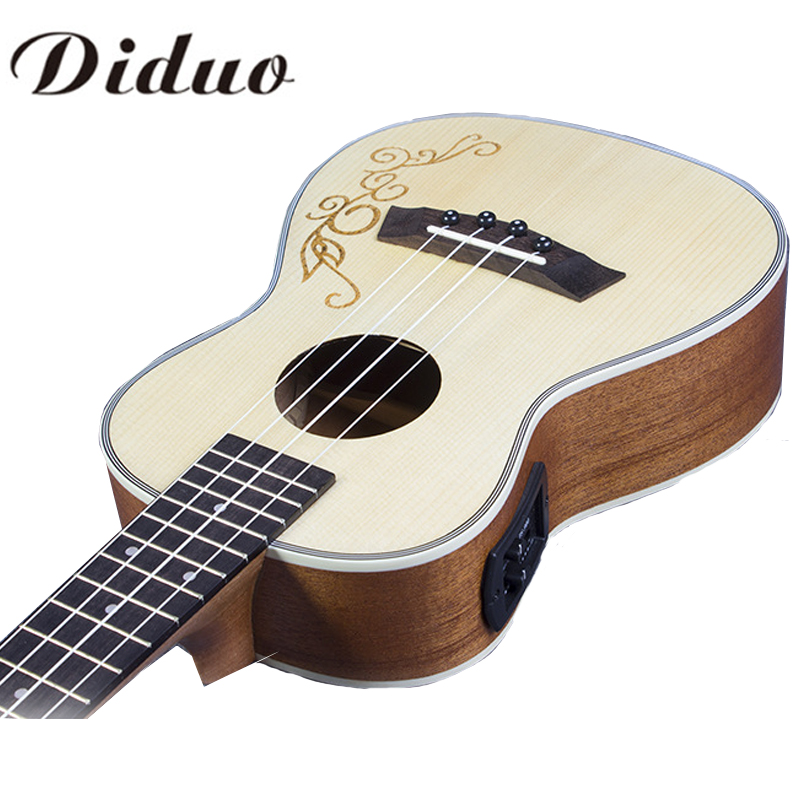 Listen Voice  23 inch Concert Ukulele 4 string Hawaiian guitar Ingman Spruce Panel Electric Ukelele with Pickup EQ CY-23C 1pcs 5 75 inch led motorcycle projector daymakers 5 75 inch headlight for harleys dyan h4 hi lo beam lights lamp bulb angle eye