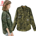 WOMEN CAMOUFLAGE BLOUSE clothing Camo casual blusa femme Clothes female 2016 lady top fashion t denim brand long sleeve shirt